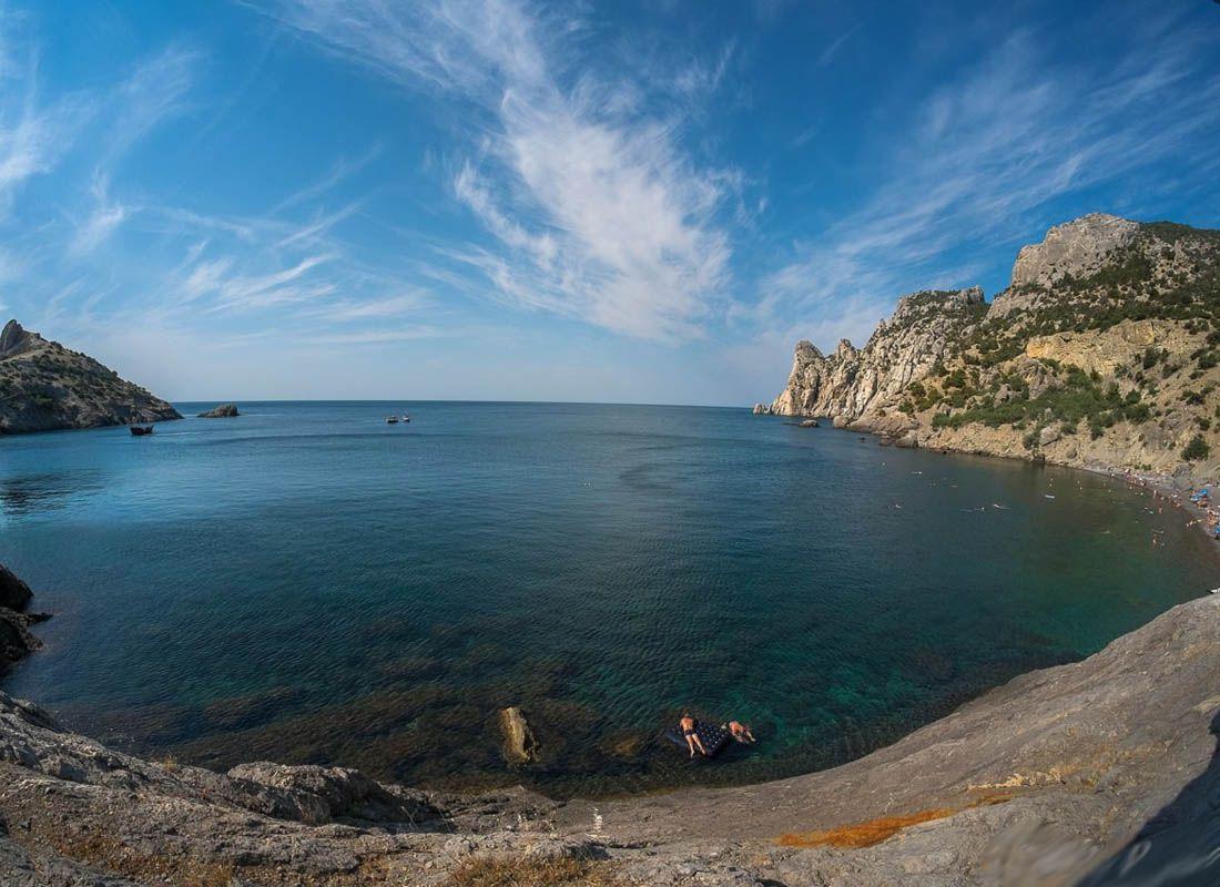Зеленая бухта фото пляжа